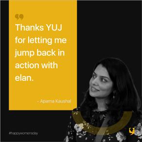 Employee testimonial by Aparna for YUJ Designs